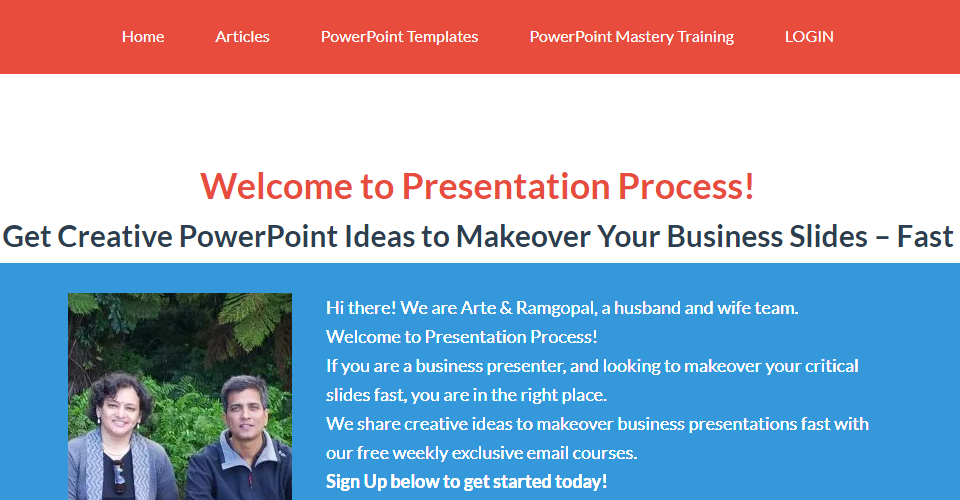 moving presentation process com to wordpress sbitowp